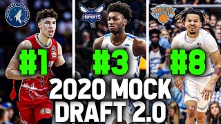 OFFICIAL 2020 NBA MOCK DRAFT 2.0 | Entire First Round