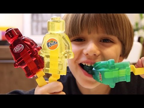 Gummy Lego Toy made of Fanta, Mountain Dew, Dr Pepper and Powerade
