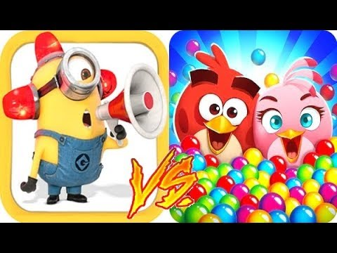 Despicable Me Minion Rush vs Angry Birds Pop Gameplay HD ...