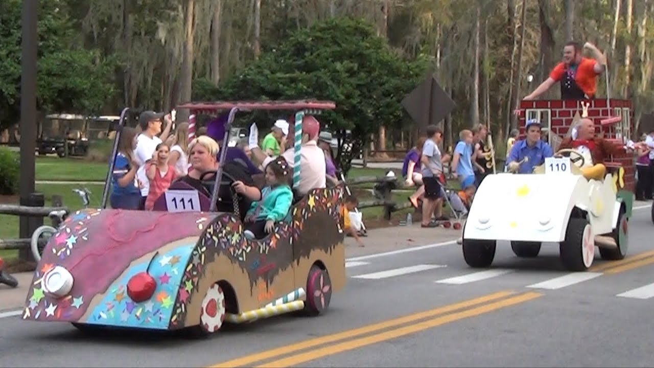 disneys fort wilderness halloween golf cart parade 2013 incl wreck it ralph duck dynasty themes youtube