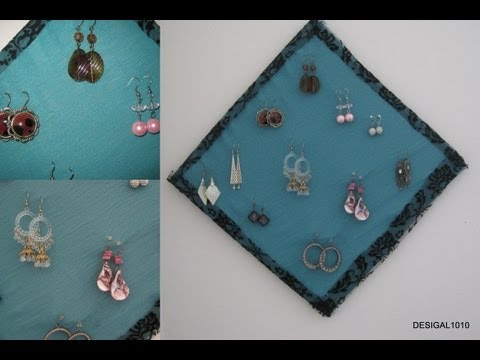 DIY Earring holder and organization using waste material | Desigal1010