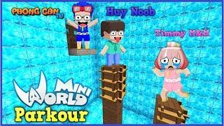 Mini World Parkour: Phong Cận và Huy noob solo parkour cùng timmy trong mini world | Phong Cận Tv