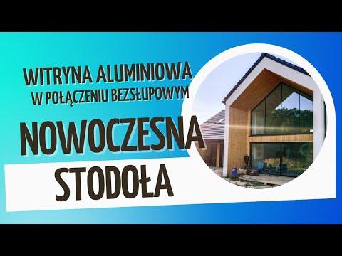 Montaż aluminiowych okien panoramicznych w budynku typu nowoczesna stodoła
