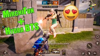 MirchiFun & HYDRA BTS IN SAME TEAM | PUBG MOBILE TDM GAMEPLAY | MIRCHIFUN