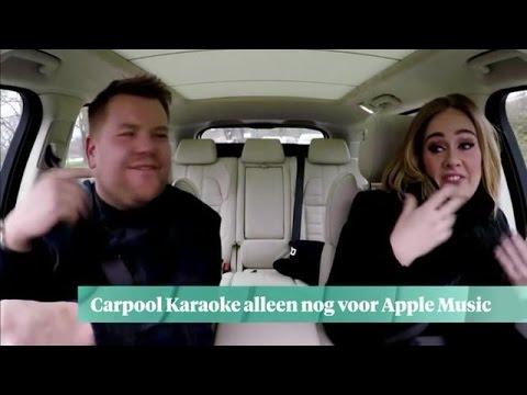Carpool Karaoke alleen nog voor Apple Music - Z TODAY
