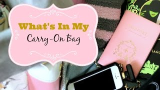 Travel Essentials For Long Flights - What's In My Carry On - MissLizHeart