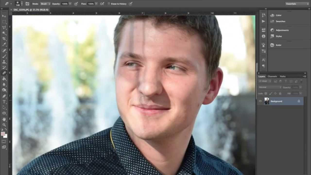 In how remove to photoshop shadows