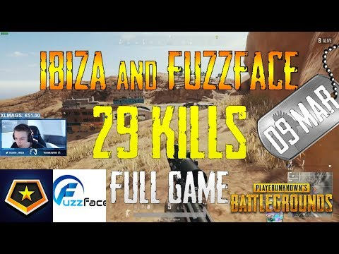Ibiza and Fuzzface | 29 Kills | PUBG