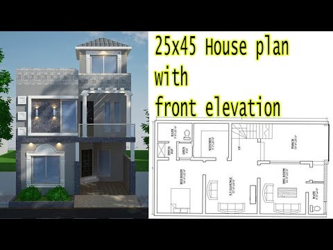 25x45 House Plan with Front Elevation 2018
