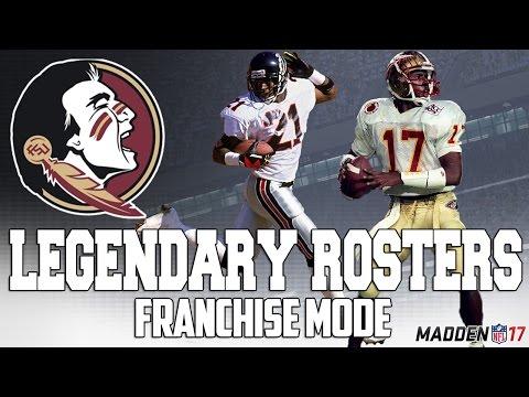 Legendary Florida State Roster | Madden 17 Connected Franchise | Deion Sanders + Charlie Ward