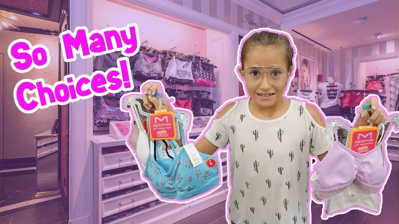 624552c74d98d Shopping For Her First Bra! - YouTube