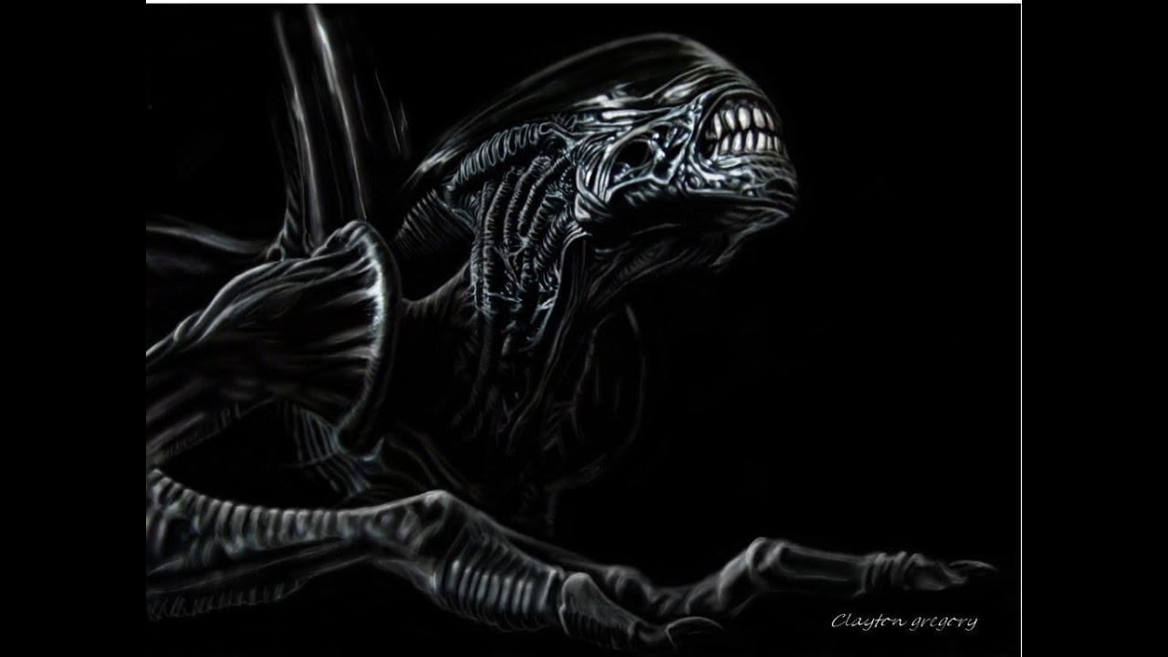XENOMORPH SPEED ART - YouTube H.r. Giger Wallpaper