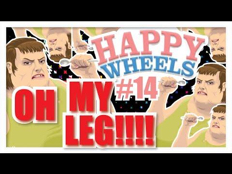 OH MY LEG!!! - HAPPY WHEELS [PC] GAMEPLAY #14