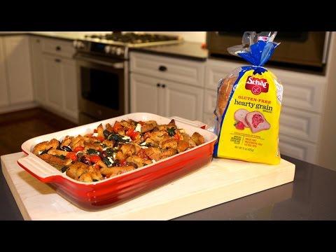 Savory Mediterranean Bread Pudding - Gluten-Free Recipe - Cooking With Schar Feat. Sarah Green