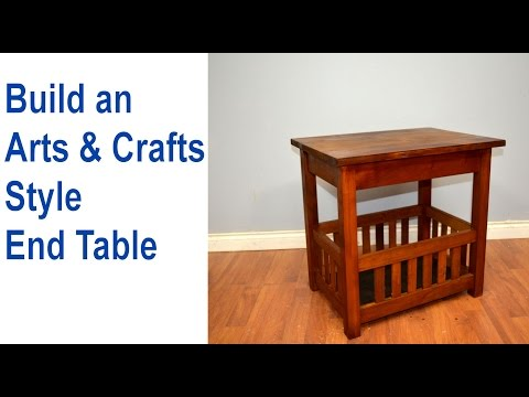 How to Build an End Table, Arts & Crafts Style