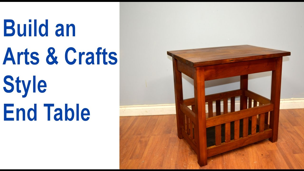 How to Build an End Table, Arts & Crafts Style - YouTube