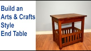 In this tutorial I show you how to make an End Table. I have always loved Arts & Crafts style furniture and this little end table is a...