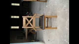 Country Oak Carver Cross Back Dining Chair