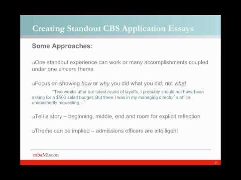 Columbia Business School Essay Analysis 2013/2014 Season - Write Like An Expert