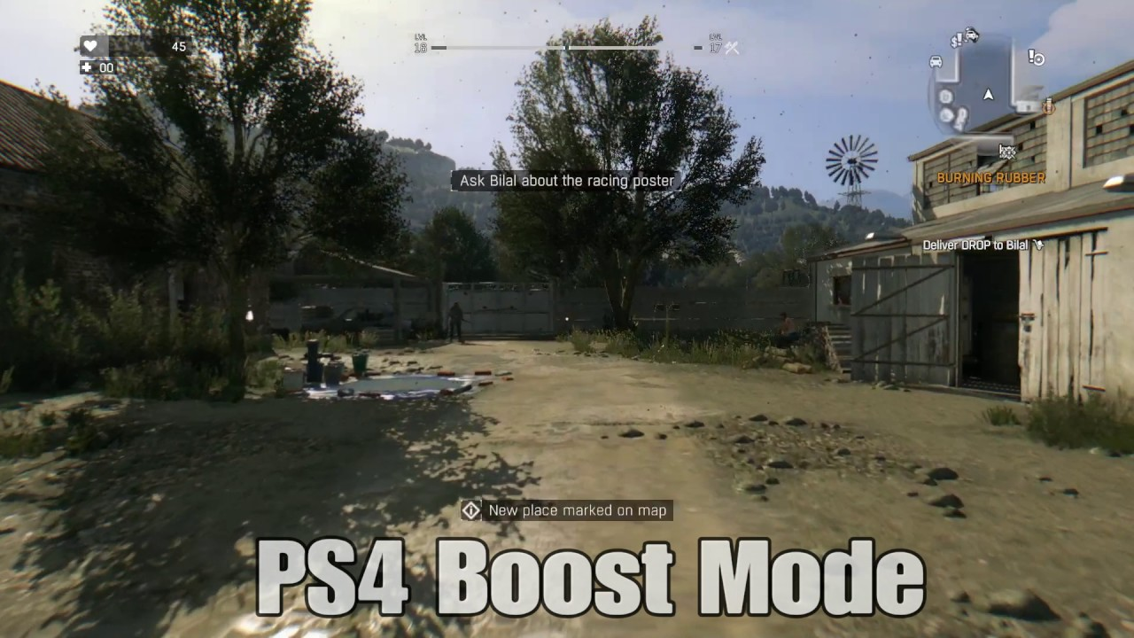 Dying Light - PS4 Base vs  Boost Mode Comparison Part 1