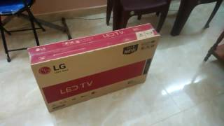 LG 32LH564A LED TV unboxing