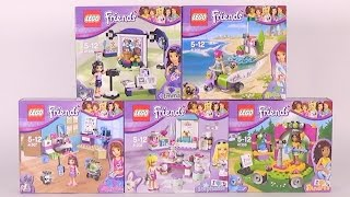 LEGO Friends 'I HEART' Sets Collection - Toy Unboxing and Speed Build