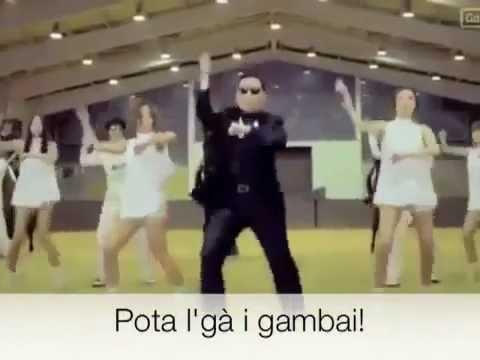 Gangnam Style in dialetto Bresciano (Pota el ga i gambai)