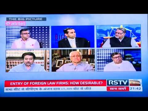 "[News Feature] ""Entry of the Foreign Law Firms into India"" - Rajya Sabha TV"