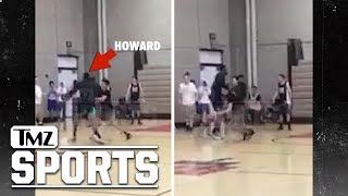 Dwight Howard Kinda Gets Dominated In College Pick Up Game | TMZ Sports