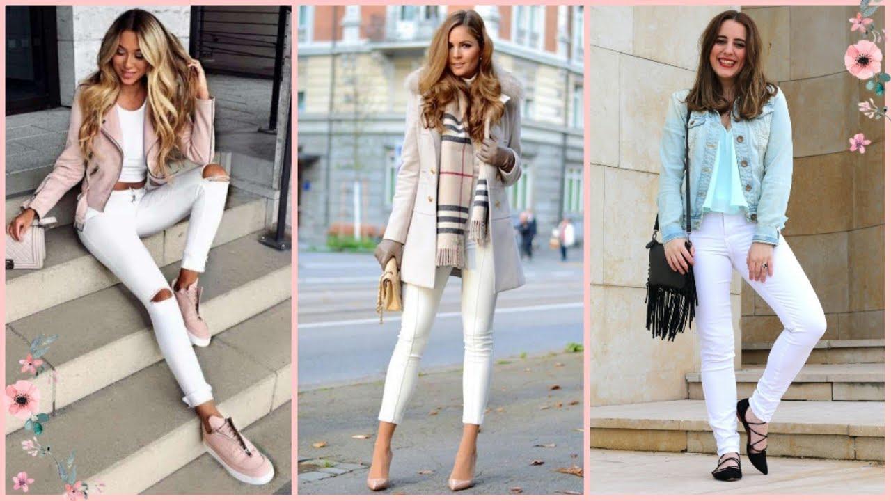 Outfits Con Pantalón Blanco Tendencias 2019 2020 Mujer Ropa Combinaciones Color Youtube