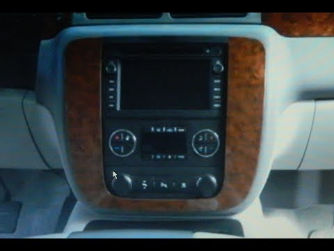 Chevrolet Tahoe Stereo Removal 2007-2013 - YouTube
