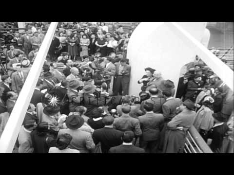 President  Chaim Weizmann of Israel meets President Harry S. Truman in Washington...HD Stock Footage