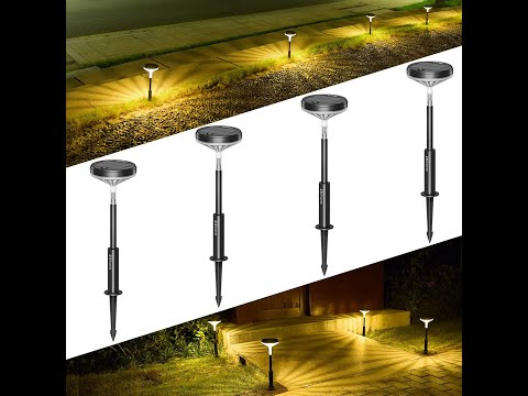 Litom LED Solar Pathway Landscape Lights / Outdoor / Garden – Review