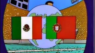 Messico contro Portogallo in finale nei mondiali (i Simpson)