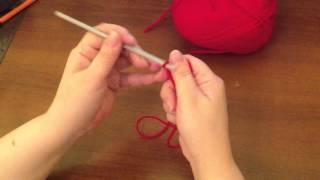 Урок 1 по вязанию левой рукой.