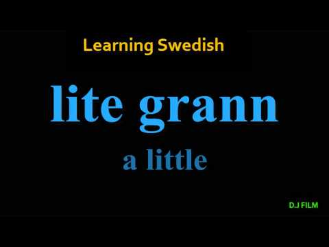 """Learning Swedish (Lesson 5) """"Useful Words"""""""