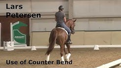 Dressage trainer Lars Petersen teaching on the Use Of Counter Bend