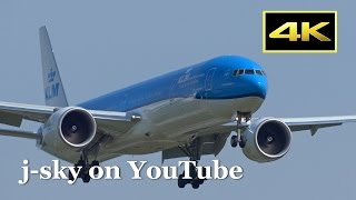[4K] New Color Scheme KLM Boeing 777-300, ANA Boeing 787-9 and more at Narita Airport / 成田国際空港