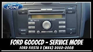 FORD 6000 CD MODE SERVICE 💿