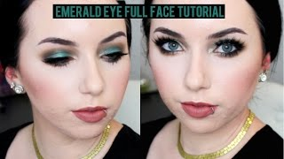 Emerald Eye Full Face Makeup for Pale Skin | New Loreal Shadow & Julep Beauty Box