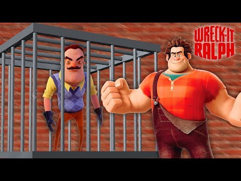 MINECRAFT || WRECK IT RALPH TURNS HELLO NEIGHBOUR INTO A VIDEO GAME