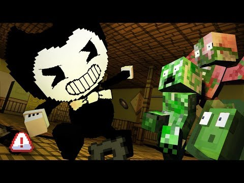 Monster School : BENDY AND THE INK MACHINE - Minecraft Animation