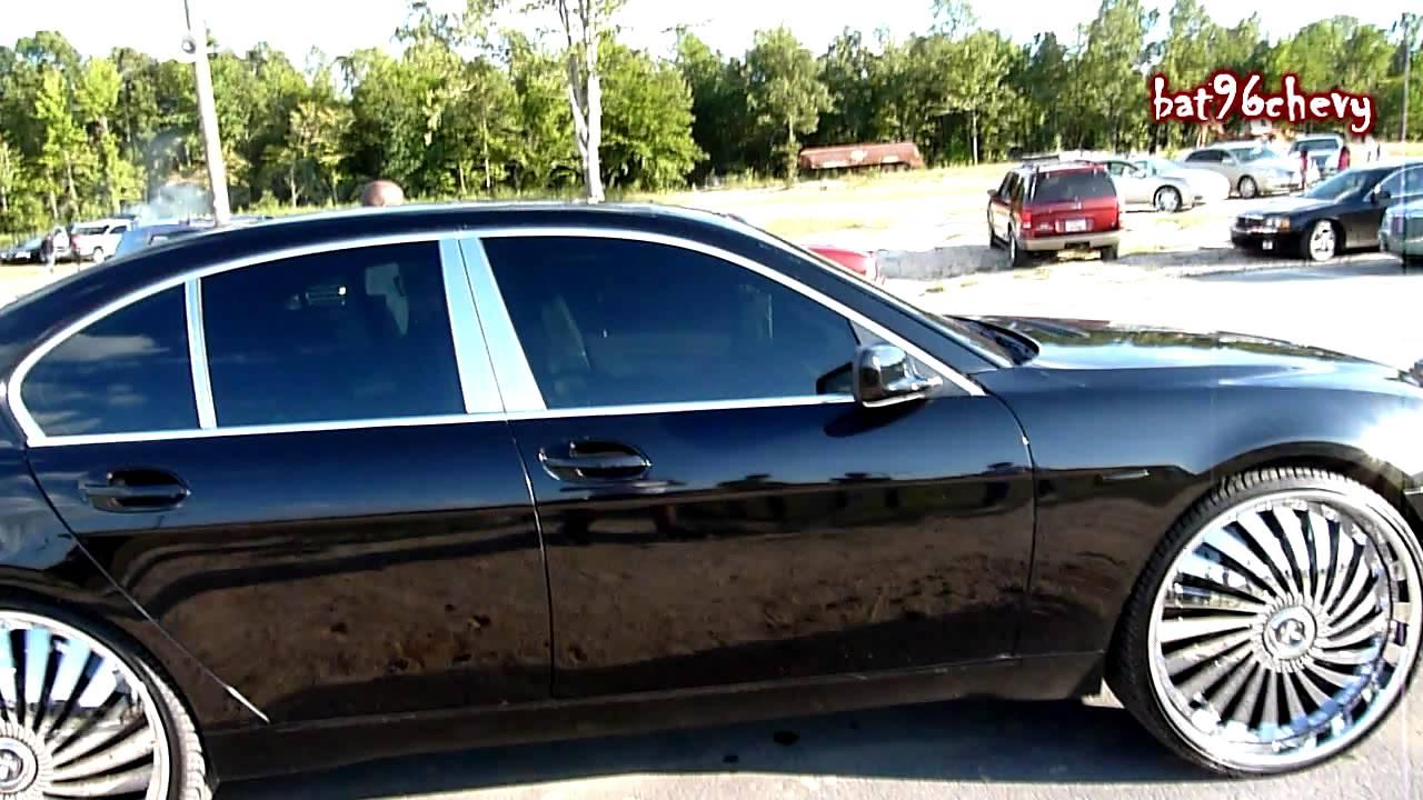Black BMW Li On DUB Swyrl Floaters HD YouTube - 745 bmw li