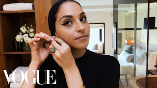 Student Eman Abbas Does Her Authentic Egyptian Cat-Eye | Beauty Secrets | Vogue