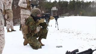Marine Corps Warrant Officers Fire M27 Rifles
