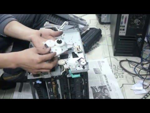 Hướng dẫn tháo lắp máy in canon LBP 3300, Thay bao lụa, sửa kẹt giấy, nhăn giấy P1