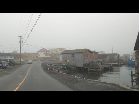 Driving from downtown Halifax to Peggy's Cove