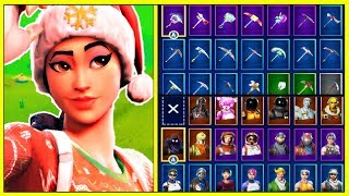 SHOWING MY LOCKER & STATS! (ALL MY SKIN, PICKAXES, GLIDERS, EMOTES & MORE!) | Fortnite!