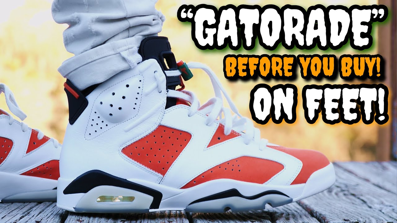 "new styles 29ea8 5fc18 ""GATORADE"" AIR JORDAN 6 ON FEET! Watch this BEFORE YOU BUY! Review &  Everything You Need To Know!"
