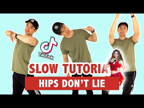HIPS DON'T LIE (SLOW TUTORIAL) | TIKTOK DANCE
